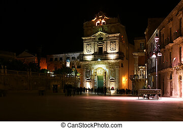 CATHEDRAL OF SYRACUSE (Siracusa, Sarausa)-- historic city in Sicily, Italy