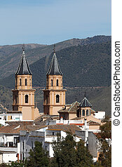 Cathedral of the Andalusian village Orgiva, Spain