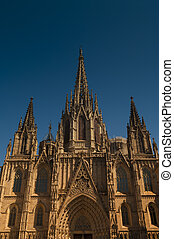 Cathedral of the Holy Cross in Barcelona, Spain
