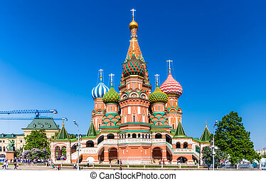 Cathedral of Vasily the Blessed - MOSCOW - MAY 18: The...
