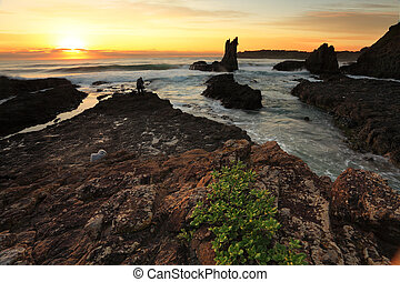 Cathedral Rock at Sunrise NSW Australia