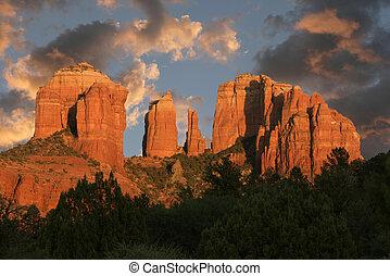 Cathedral Rock, Sedona, AZ - Cathedral Rock at sunset