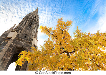 Cathedral Spire Behind Tree