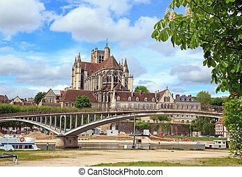 Cathedral st Etienne, abbey st German, Auxerre Bourgogne France