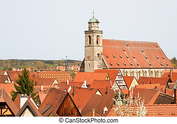 Cathedral St. George, City of Dinkelsbuehl, Franconia, Germany