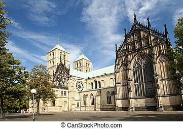 The famous cathedral St. Paulus in Muenster, Germany.