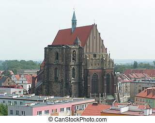 Cathedral - The cathedral of the Nysa city in Poland.