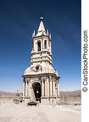 Cathedral Tower bell of Arequipa - On top the Cathedral, iew...