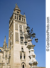 Cathedral Tower in Seville, Spain