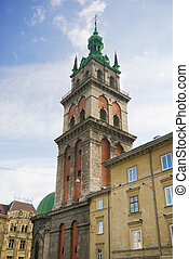 cathedral tower - kortnyak`s tower & dominican cathedral in...