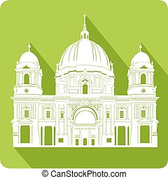Cathedral, vector illustration