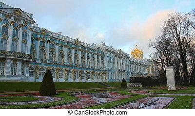 Catherine Palace - Pushkin, Tsarskoe Selo, St. Petersburg, timelapse