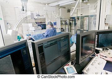 cathlab, in, modern, klinikum