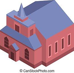 Catholic church icon, isometric style
