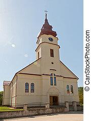 church - Catholic church in Solonetu Nou village in...