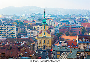 Catholic church in the city center of Budapest