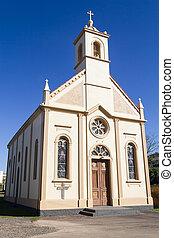 Catholic Church in Vale dos Vinhedos valley, Bento Goncalves, Rio Grande do Sul, Brazil