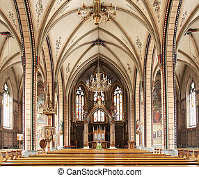catholic church interior - The interior of a catholic church...