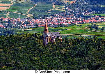 Catholic church near Bingen am Rhein and Ruedesheim, Rheinland-P