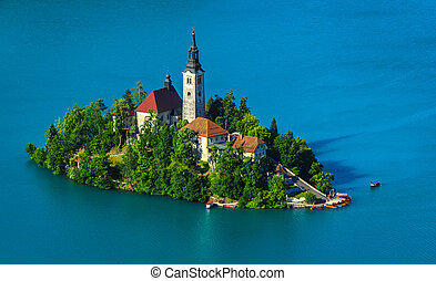Catholic church on island, Bled