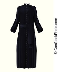 Catholic church priest garment 3d realistic vector -...