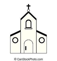 Catholic church symbol black and white