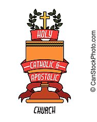 Catholic design - Catholic digital design, vector ...
