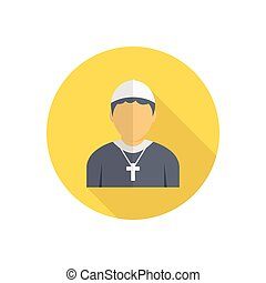 catholic  flat color icon