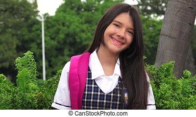 Catholic Girl Student Smiling