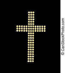 Catholic golden cross