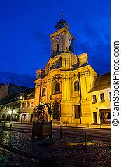 Catholic medieval church in Brasov, Romania
