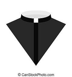 Catholic priest dress icon vector illustration