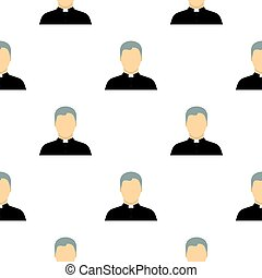 Catholic priest pattern flat