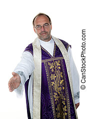 Catholic priests are friendly hand
