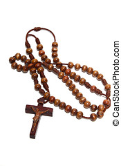 Catholic Rosary - Catholic rosary isolated on white...