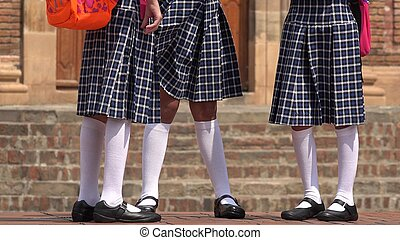 Catholic School Girls Standing