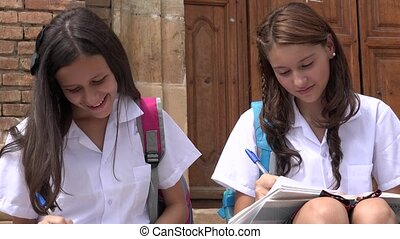 Catholic School Girls Writing