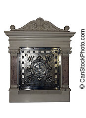 catholic tabernacle with a clipping path