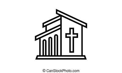 Catholic temple icon animation