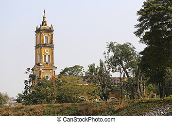 catholique, église, dans, thaïlande