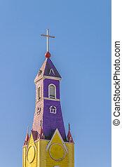 catholique, île, bois, chiloe, chili, église