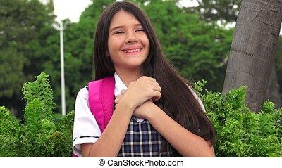 catholique, girl, plein d'espoir, étudiant