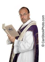 catholique, prêtre, bible, église