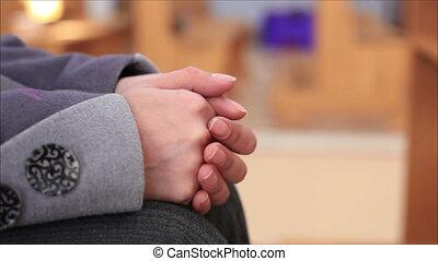 catholique, prière, église