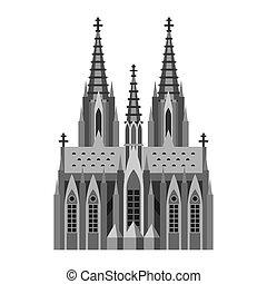 catholique, romain, cologne., cathédrale