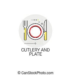 Catlery And Plate Cooking Utensils Kitchen Equipment Appliances Icon