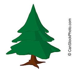 Catoon Tree Art Illustration - Cartoon tree on a white...