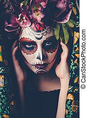 Catrina face makeup