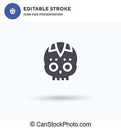 Catrina icon vector, filled flat sign, solid pictogram isolated on white, logo illustration. Catrina icon for presentation.