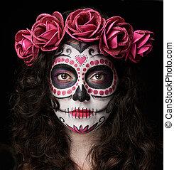 catrina skull portrait